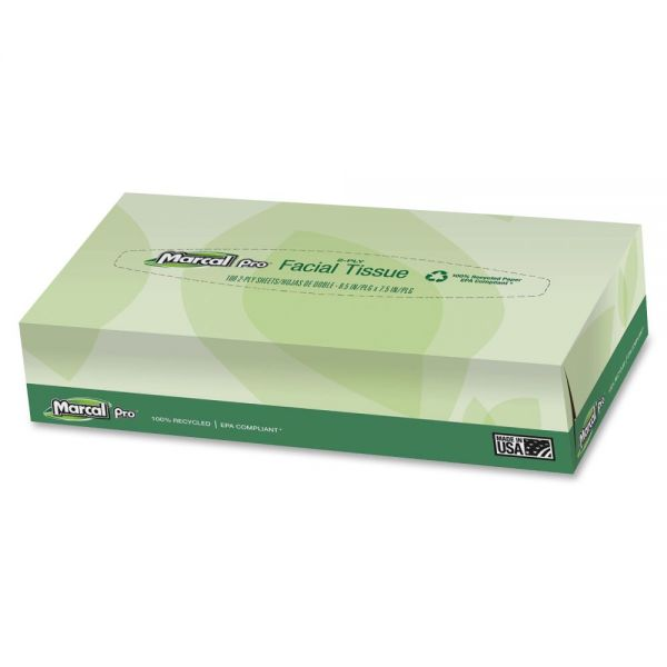 Marcal Pro 100% Premium Recycled 2-Ply Facial Tissues