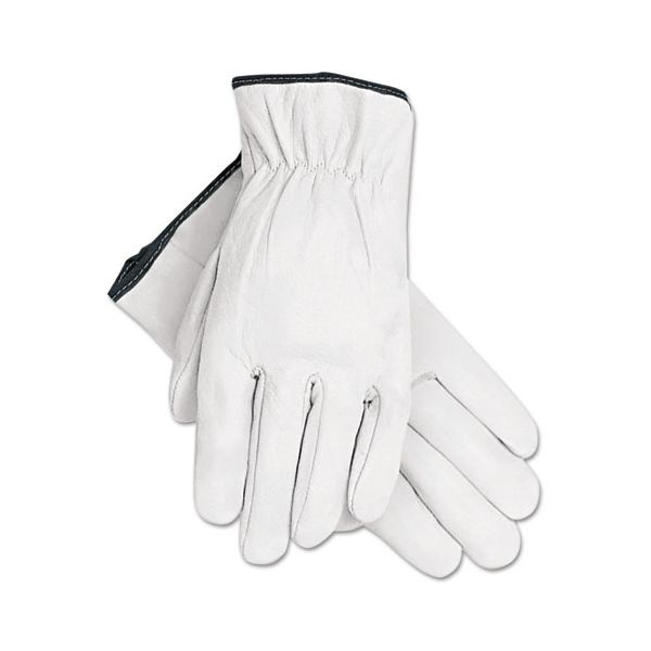MCR Safety Grain Goatskin Driver Gloves, White, X-Large, 12 Pairs