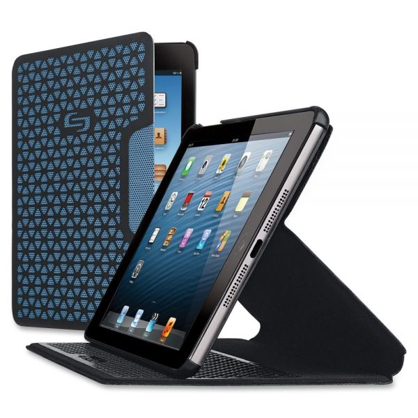 Solo Vector Carrying Case for iPad mini, Tablet - Black, Blue