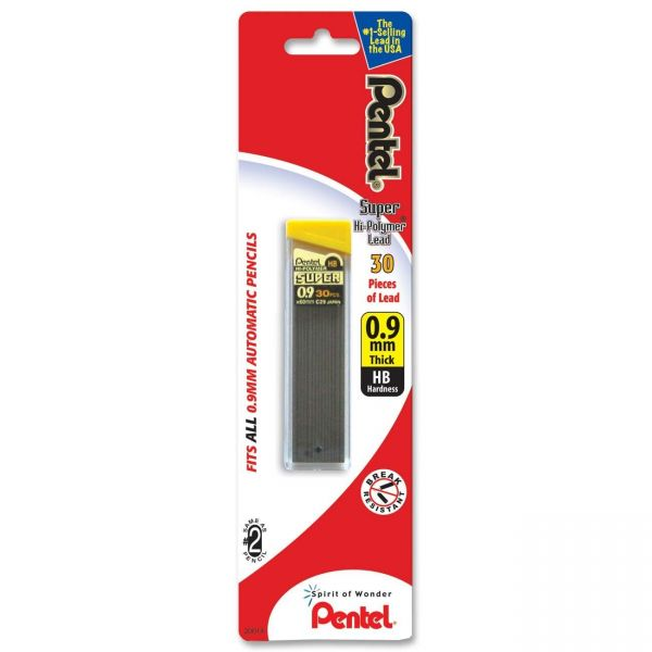 Pentel Super Hi-Polymer 0.9mm Lead Refill