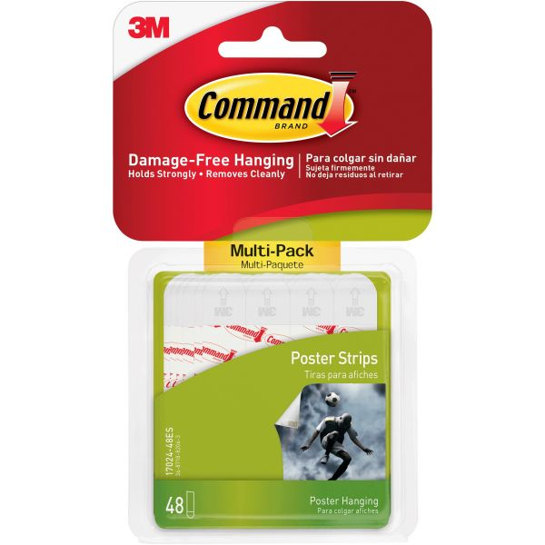 Command Small Poster Hanging Strips