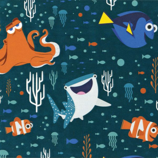"Disney Finding Dory-Camelot Design Studio 44/45"" Cotton D/R"