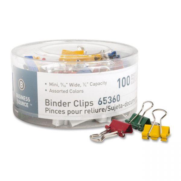 Business Source Mini Binder Clips