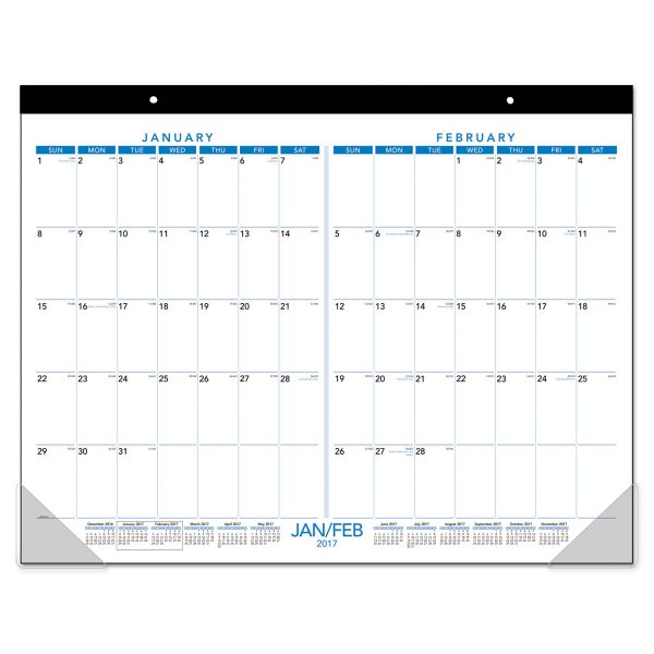 At-A-Glance 2-Month View Desk Pad Calendar