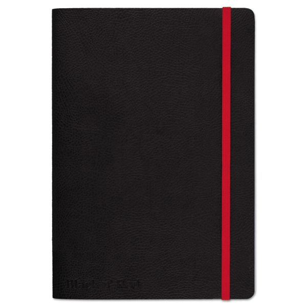 Black n' Red Soft Cover Notebook, Legal Rule, Black Cover, 8 1/4 x 5 3/4, 71 Sheets/Pad