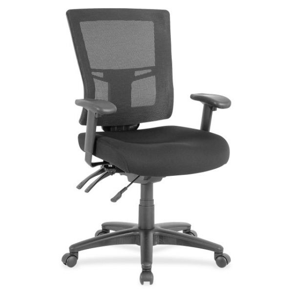 Lorell Swivel Mid-Back Mesh Office Chair