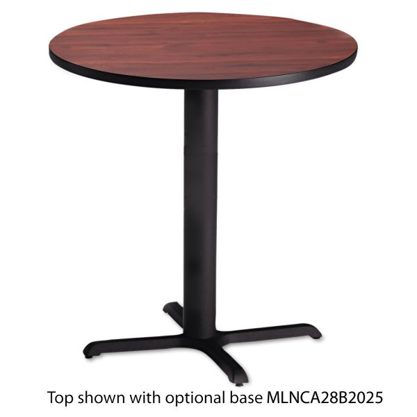 "Mayline Bistro Series 36"" Round Laminate Table Top, Mahogany"