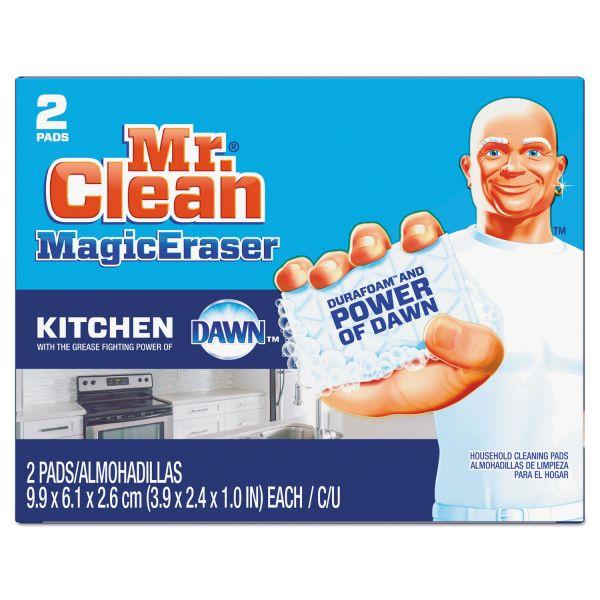 "Mr. Clean Magic Eraser Kitchen Scrubber, 3 9/10"" x 2 2/5"", 2/Box, 12 Boxes/Carton"