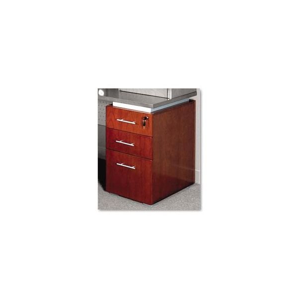 Tiffany Industries Eclipse Series Box/Box/File Pedestal For Credenza Shell, Warm Cherry