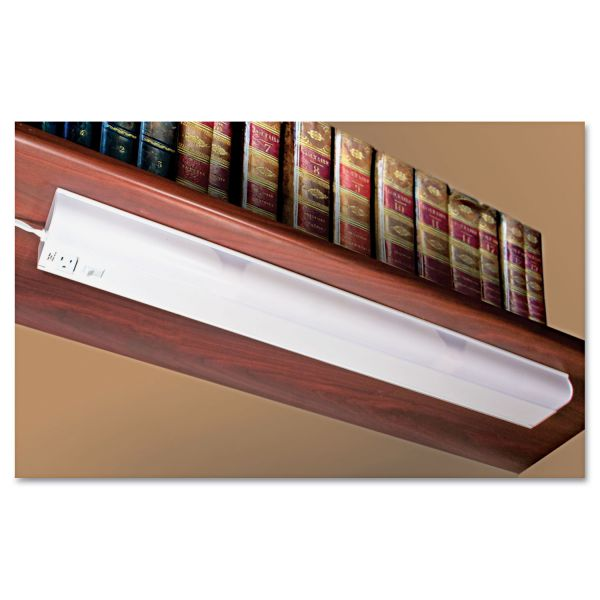 Ledu Under Cabinet Fluorescent Lamp, Steel, White