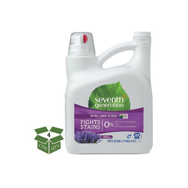 Seventh Generation Natural Liquid Laundry Detergent, Lavender/Blue Eucalyptus, 99 loads,150oz,4/CT