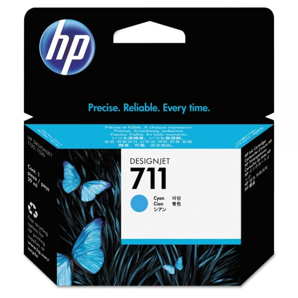 HP711 Cyan Ink Cartridge (CZ130A)