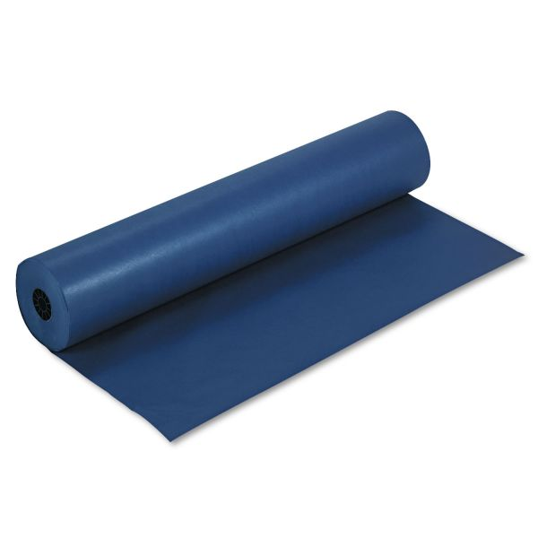 "Pacon Rainbow Duo-Finish Colored Kraft Paper, 35 lbs., 36"" x 1000 ft, Dark Blue"