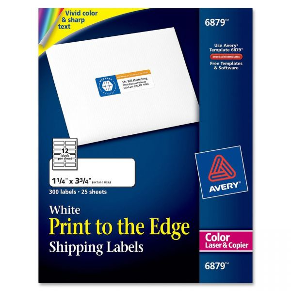 Avery 6879 Print To The Edge Shipping Labels