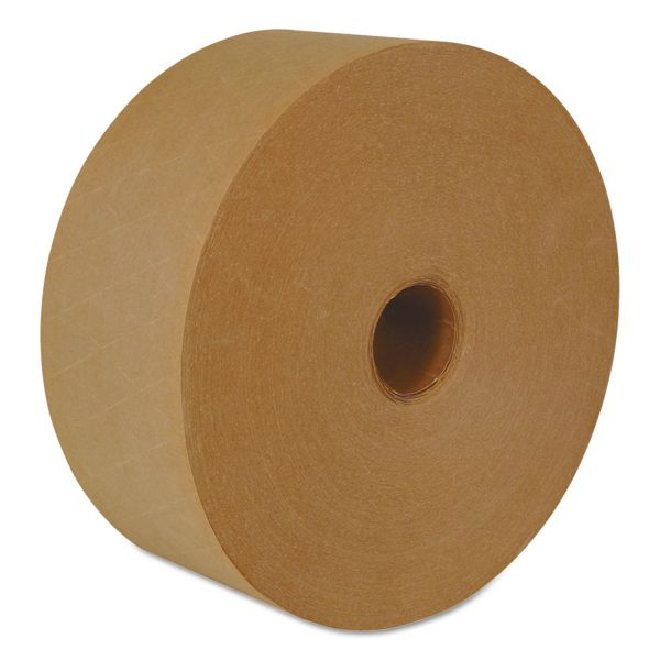 "ipg Reinforced Water-Activated Tape, 2.83"" x 450', Natural, 10/Carton"