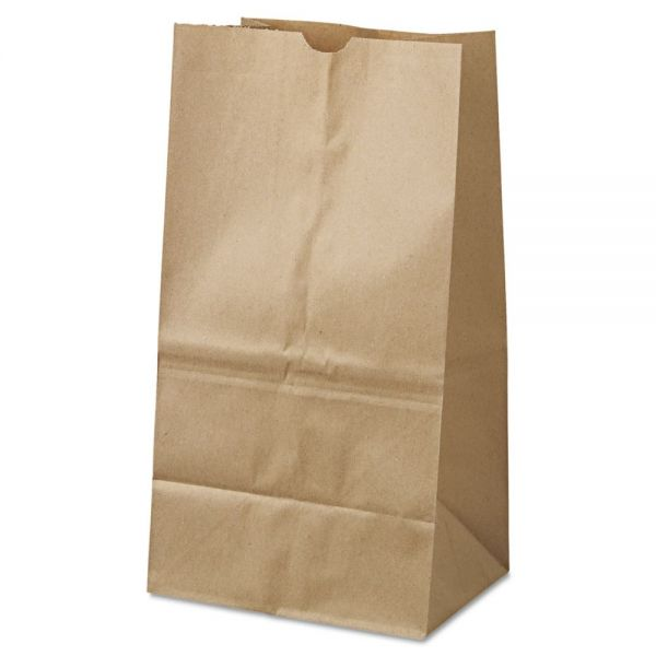 General #25 Squat Brown Paper Grocery Bags