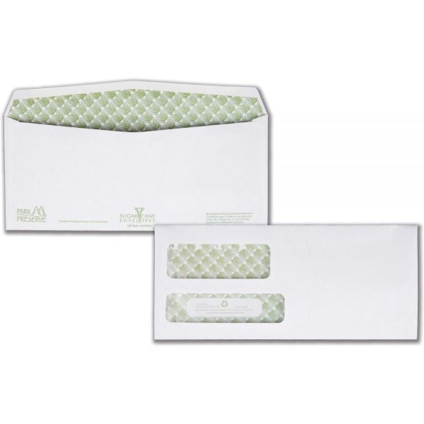 Quality Park Sugarcane Paper Double Window Envelopes
