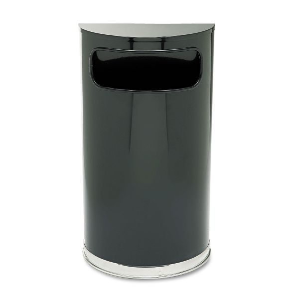 Rubbermaid European Series Half-Round 9 Gallon Trash Can