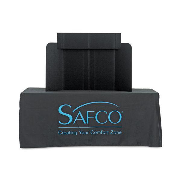 Safco Economy Tabletop Exhibit, 46 x 9 x 32, Black