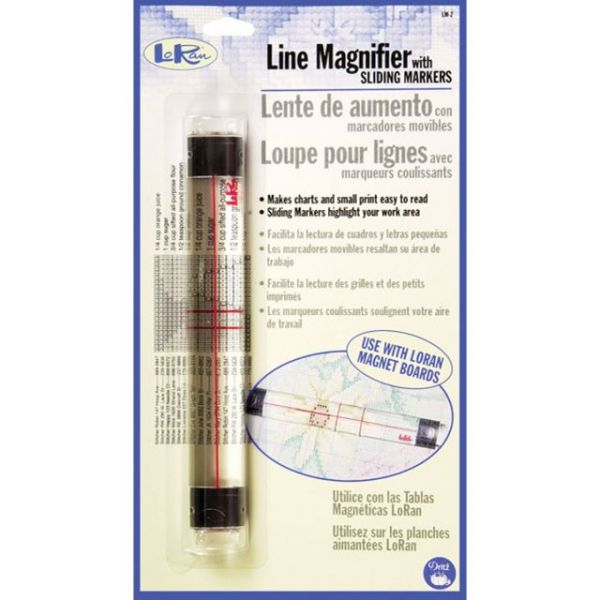 "LoRan Line Magnifier W/Sliding Markers .875""X6.5"""