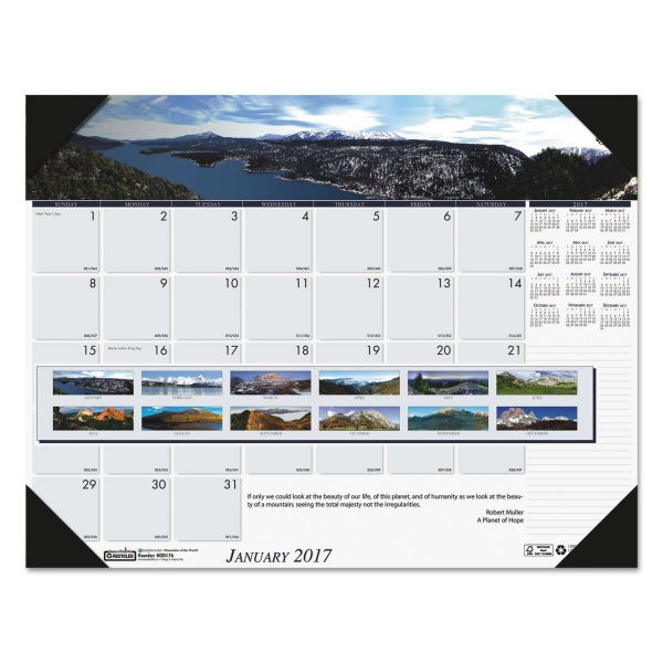 House of Doolittle Earthscapes Mountains of the World Monthly Desk Pad Calendar