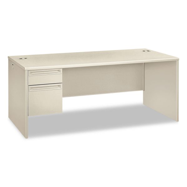 "HON 38000 Series Left Pedestal Desk | 1 Box / 1 File Drawer | 72""W"