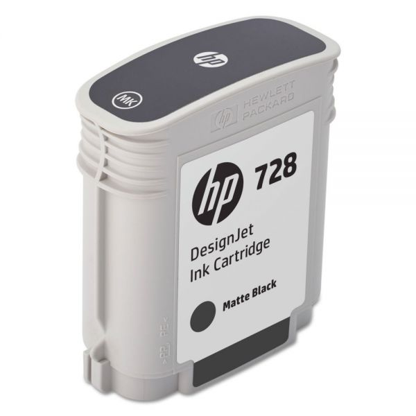 HP 728 Matte Black Ink Cartridge (F9J64A)