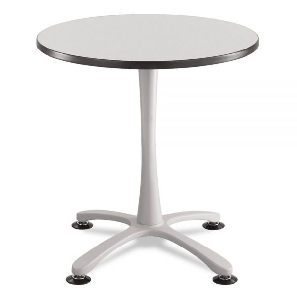 "Safco Cha-Cha Sitting Height Table Base, X-Style, Steel, 29"" High, Metallic Gray"