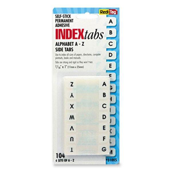 Redi-Tag Permanent Alphabet Index Tabs