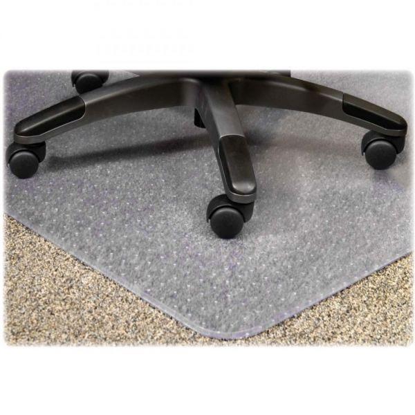Lorell PlushMat Medium Pile Chair Mat