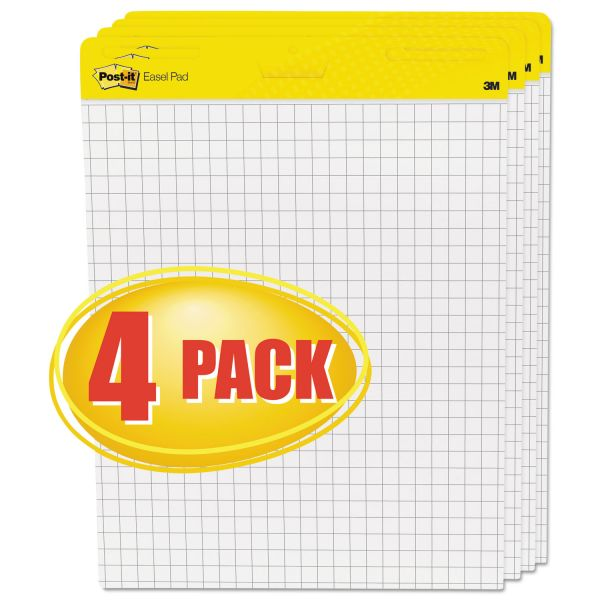 Post-it Self-Stick Quadrille Ruled Easel Pads