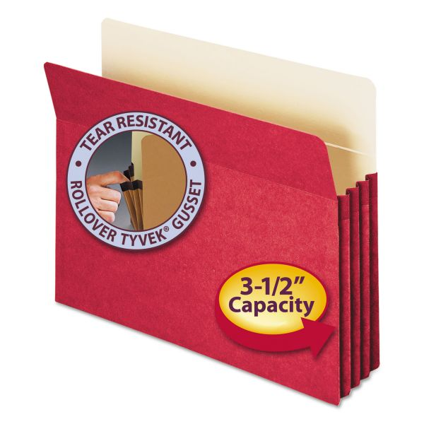 Smead 73231 Red Colored Expanding File Pocket