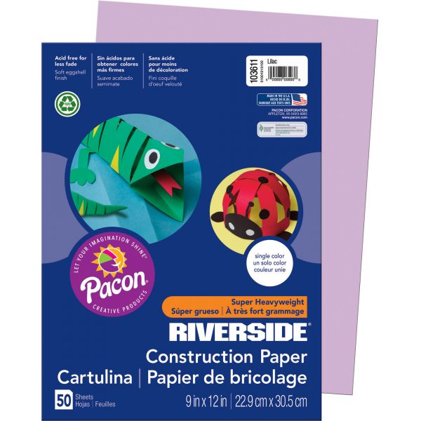 Pacon Groundwood Purple Construction Paper