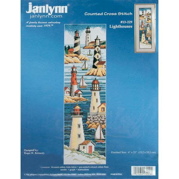 Lighthouses Counted Cross Stitch Kit