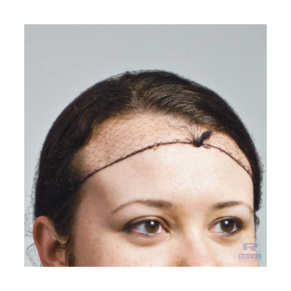 Royal Latex-Free Hairnets, Nylon, Dark Brown, One Size Fits All, 2880/Carton