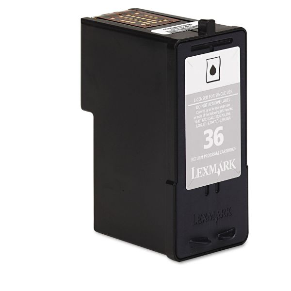 Lexmark #36 Black Return Program Ink Cartridge (18C2130)
