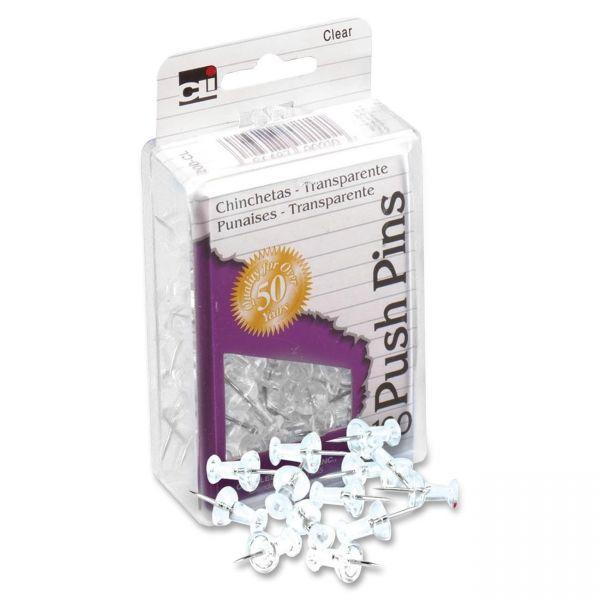 CLI Clear Push Pins
