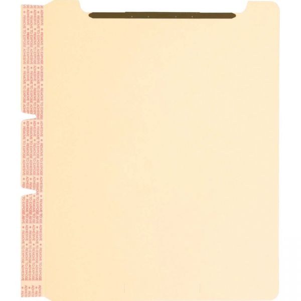 Smead 68025 Manila Self-Adhesive Folder Dividers with Twin Prong Fastener
