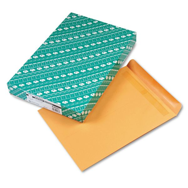 Quality Park Redi Seal Catalog Envelope, 12 x 15 1/2, Brown Kraft, 100/Box