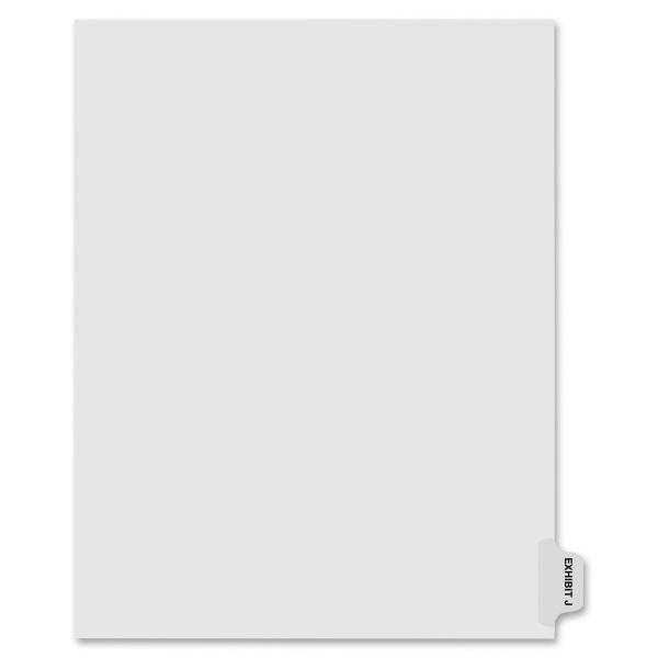Kleer-Fax 80000 Series Side Tab Legal Exhibit Index Dividers