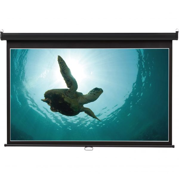 Quartet Wide Format Wall Mount Projection Screen, 52 x 92, White