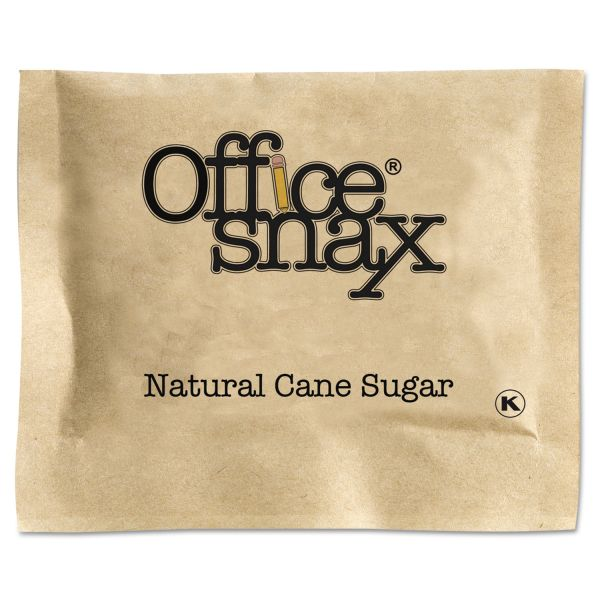 Office Snax Exact Natural Cane Sugar Packets