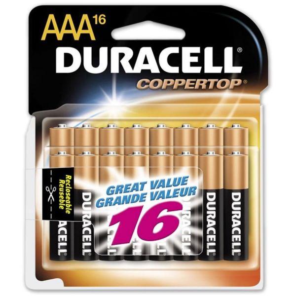 Duracell CopperTop Alkaline Batteries, AAA, 20/PK