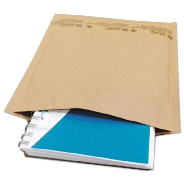 Universal Jiffy Natural Self Seal Cushioned Mailer, #2, 8 1/2 x 12, Kraft, 100/Carton