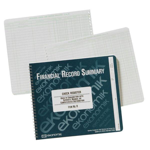 Ekonomik Standard Size Check Registry