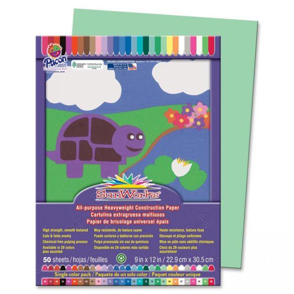 SunWorks Heavyweight Green Construction Paper