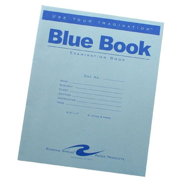 Roaring Spring Examination Blue Book