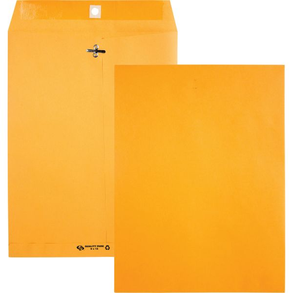 "Quality Park Recycled Gummed 9"" x 12"" Clasp Envelopes"
