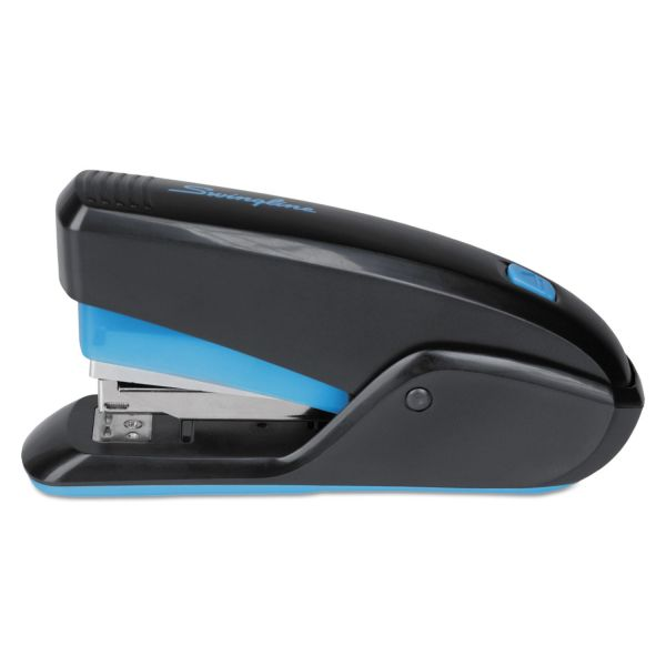 Swingline QuickTouch Reduced Effort Compact Stapler, 20-Sheet Capacity, Black/Blue