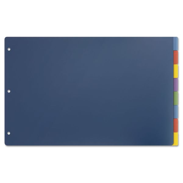 Cardinal Tabloid-Size Poly Index Divider, 8-Tab, Multicolor Colors